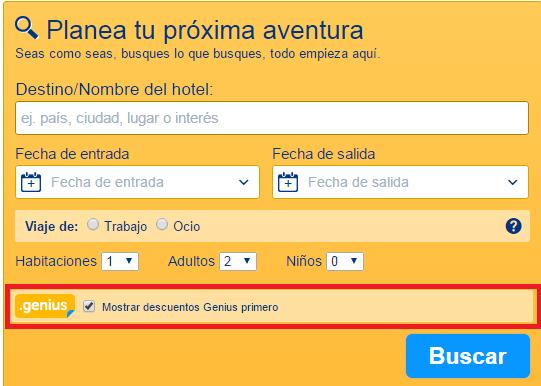 booking filtro para buscar ofertas genius - Los viajes de margalliver